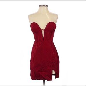 Nasty Gal Red Bustier Dress